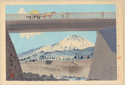 Tokuriki Tomikichiro: No. 28- Suruga Fujimibashi - 駿河富士見橋 - Ohmi Gallery
