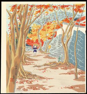 Tokuriki Tomikichiro: Oohara Sanzen-In - 大原三千院 - Ohmi Gallery