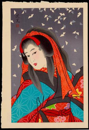 Torii Kiyomitsu: Snow - 雪 - Ohmi Gallery