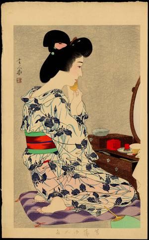 鳥居言人: In a Light Summer Kimono with Irises - Ohmi Gallery