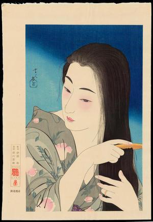 鳥居言人: No. 1 - Hair Combing - 髪梳き - Ohmi Gallery