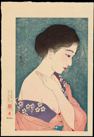 Torii Kotondo: No. 8 - Applying Powder - 化粧 - Ohmi Gallery