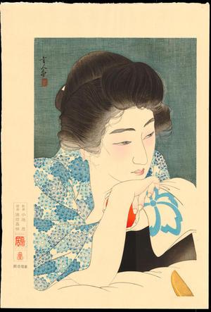 鳥居言人: No. 4 - Morning Hair - 朝寝髪 - Ohmi Gallery