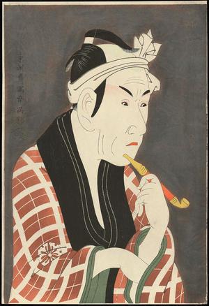 Toshusai Sharaku: Koshiro Matsumoto IV as Sakanaya Gorobee - 松本幸四郎の肴屋五郎兵衛 - Ohmi Gallery