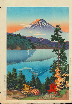 風光礼讃: Lake Ashi in the Hakone Hills in Early Autumn - ?根湖水 - Ohmi Gallery