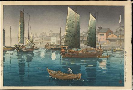 風光礼讃: Seto Inland Sea- Akashi Bay - 瀬戸内海 明石の港 - Ohmi Gallery