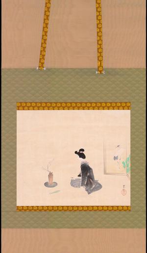 Watanabe Ikuharu: Flower Arranging - White Plum - 生花 白梅 水仙 - Ohmi Gallery
