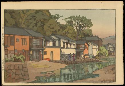 吉田博: Small Town in Chugoku - Ohmi Gallery