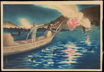 Yoshiji よしぢ: Nagaragawa Cormorant Fishing - 長良川鵜飼 - Ohmi Gallery