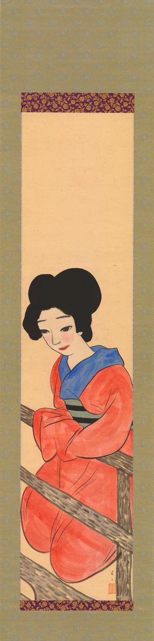 Takehisa Yumeji: Bijin in Red (1) - Ohmi Gallery