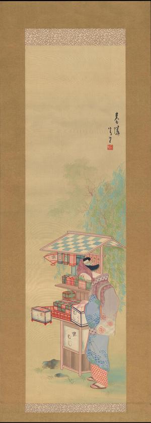 Takehisa Yumeji: Bijin and Beetle Stall (1) - Ohmi Gallery