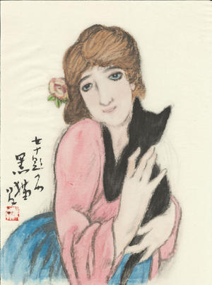 Takehisa Yumeji: Black Cat - 黒猫 - Ohmi Gallery