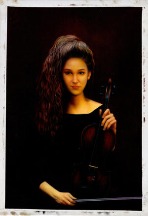 Zhangbo: Female Violin Player - Ohmi Gallery