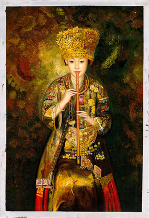 Zhangbo: Hmong Culture Girl is Piping - Ohmi Gallery