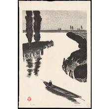 Aoyama, Masaharu: Fishing Boat - つり舟(タテ) - Ohmi Gallery