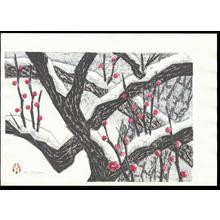 Aoyama, Masaharu: Japanese Apricot - 紅梅 - Ohmi Gallery