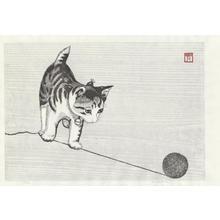 Aoyama, Masaharu: Kitten and Knitting Wool - 毛糸猫 - Ohmi Gallery