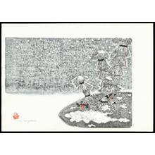 Aoyama, Masaharu: Straw Shelter and Nadina - 雪囲いと南天 - Ohmi Gallery