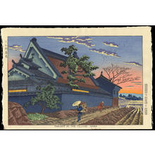 Asano Takeji: Twilight In The Village, Nara - Ohmi Gallery