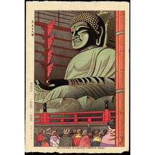Asano Takeji: Big Buddha Of Todaiji Temple - 東大寺大佛 - Ohmi Gallery