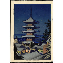 浅野竹二: Moon Light In Yasaka Pagoda - Ohmi Gallery