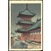 Asano Takeji: Rain in Kiyomizu Temple - Ohmi Gallery