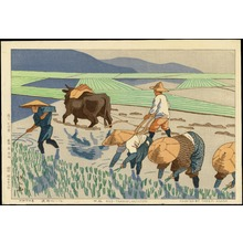 Asano Takeji: Rice Transplantation - 田植 - Ohmi Gallery