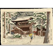 浅野竹二: Snow In Yuki Shrine - 由岐神社雪 - Ohmi Gallery