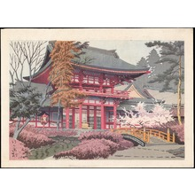 Asano Takeji: Temple in Spring (1) - Ohmi Gallery