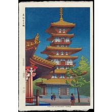 浅野竹二: Twilight In Yakushiji Temple - Ohmi Gallery