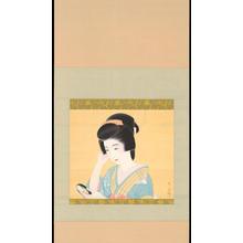 Biho: Bijin Holding Mirror (1) - Ohmi Gallery