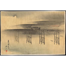 Binzan: Yabunami Bridge on a Summer Evening - 藪波橋夏夕 - Ohmi Gallery
