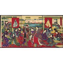 Toyohara Chikanobu: Emperor Observing Sericulture - 富貴之春蚕之繁栄 - Ohmi Gallery