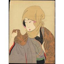 豊原周延: Bijin Wearing a Scarf - 真美人 (1) - Ohmi Gallery