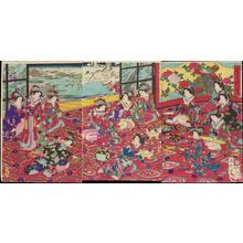 豊原周延: Spring-Coloured Garden in Snow - 春色園の雪 春色園の雪 - Ohmi Gallery
