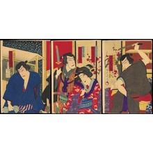 豊原周延: Winter Kabuki Scene (1) - Ohmi Gallery