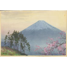 Fukaya, H: Mt Fuji and Spring Cherry (1) - Ohmi Gallery