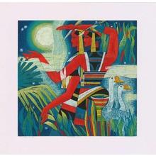 Hao Ping: Night Of Kasa River - Moonlight - Ohmi Gallery