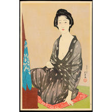 橋口五葉: Summer Kimono (In a Light Garment, a Woman from Naniwa) - 夏衣の女(うすごろも浪花の女) - Ohmi Gallery
