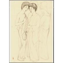 Hashiguchi Goyo: Graphite on Paper Sketch 15 - Ohmi Gallery