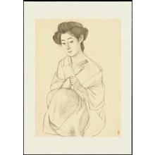Hashiguchi Goyo: Graphite on Paper Sketch 4 - Ohmi Gallery