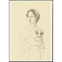 橋口五葉: Graphite on Paper Sketch 7 - Ohmi Gallery