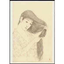 Hashiguchi Goyo: Graphite on Paper Sketch 2 - Ohmi Gallery