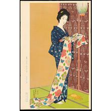 Hashiguchi Goyo: Daughter in a Summer Kimono - 夏装之娘 - Ohmi Gallery