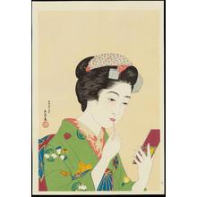 橋口五葉: Girl with Lipstick - 紅筆を持てる女 - Ohmi Gallery