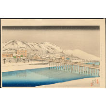橋口五葉: Sanjo Bridge, Kyoto - 京都三条大橋 - Ohmi Gallery