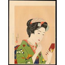 橋口五葉: Girl with Lipstick (Kyoto Maiko) - 紅筆を持てる女(京舞妓) - Ohmi Gallery