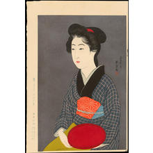 Hashiguchi Goyo: Waitress with a Tray (Nao, of a Kyoto Inn) - 紅ふで(京の宿 おなを) - Ohmi Gallery