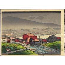 Hashiguchi Goyo: Rain at Yabakei - 耶馬溪 - Ohmi Gallery
