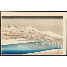 Hashiguchi Goyo: Sanjo Bridge, Kyoto - 京都三条大橋 - Ohmi Gallery